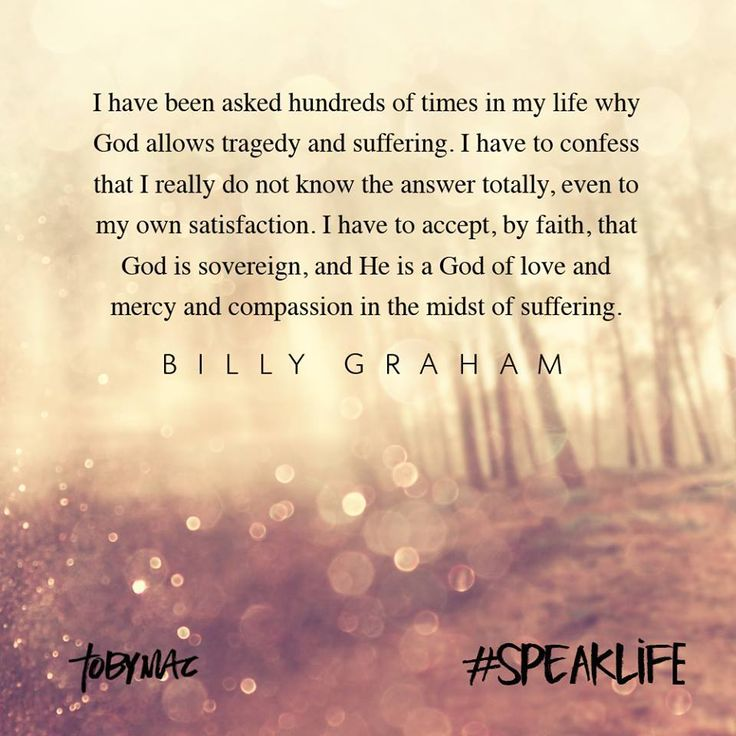 Billy Graham quote on suffering