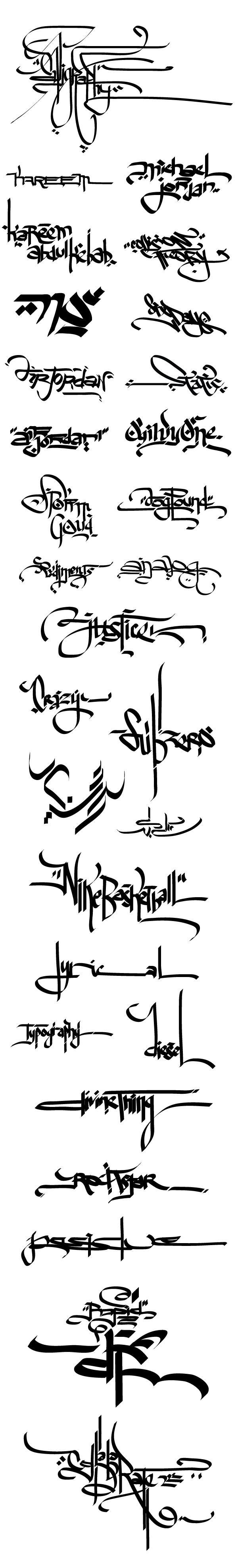 Calligraphy / Handstyles / Typography by AJ Dimarucot, via Behance