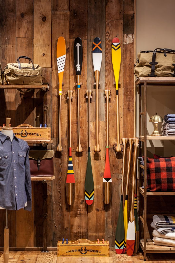 Colorful Canoe Paddles Make A Cute Wall Decoration For