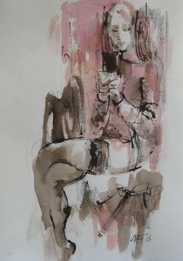 "Saatchi Art Artist Nelina Trubach-Moshnikova; Drawing, ""An answer 2"" #art"