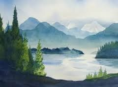 simple watercolor landscapes - Google Search