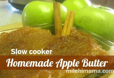 Apple Butter Recipe {slow cooker}  3 ingredients to YUM!