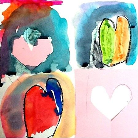 Artsonia Art Museum :: Artwork by Joyce184 kindergarten Jim Dine Hearts