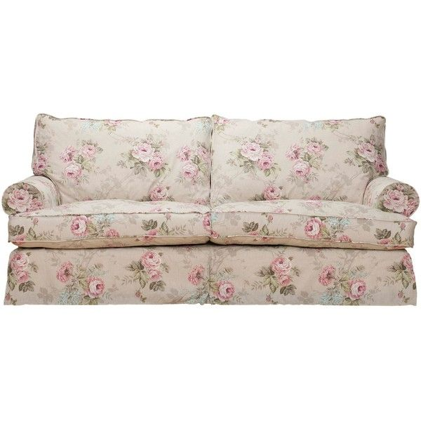 Shabby Chic Comfy Large Sofa ($1,745) ❤ liked on Polyvore featuring home, furniture, sofas, sofa, living room furniture, shabby chic sofa, shabby chic furniture, floral couch, shabby chic couch and shabby chic style furniture