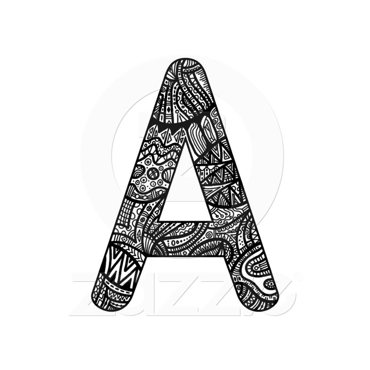 335 best zentangle letters images on pinterest doodle lettering letter a monogram doodle mouse pad thecheapjerseys Choice Image
