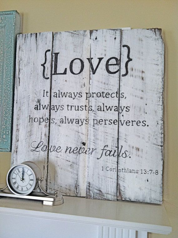 Wedding Bible Verse on Barn Wood