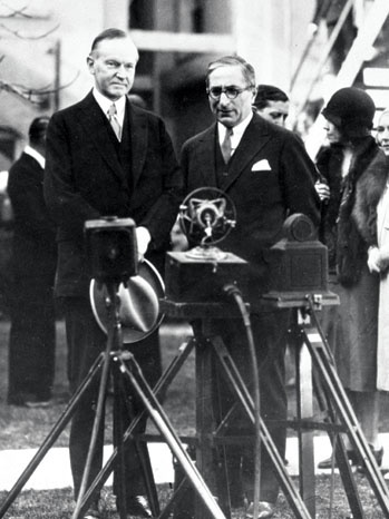Calvin Coolidge with Louis B. Mayer