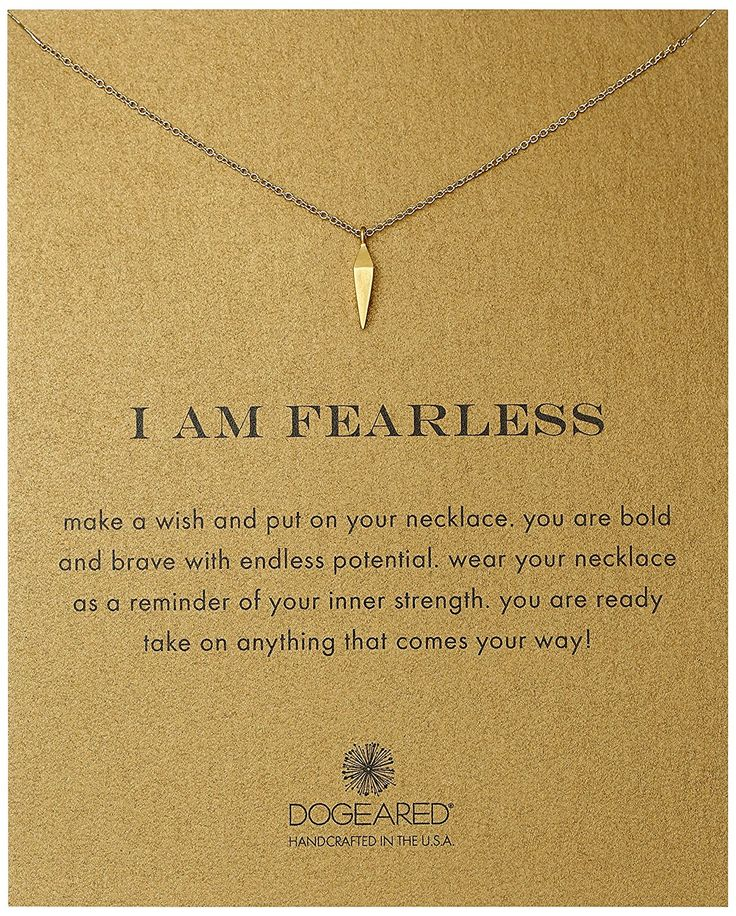 Dogeared I Am Fearless Faceted Spear Chain Necklace *** Click on the image for additional details.