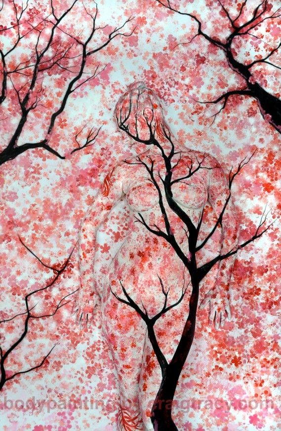 TREES gallery   Craig Tracy's Fine-Art Bodypainting Gallery