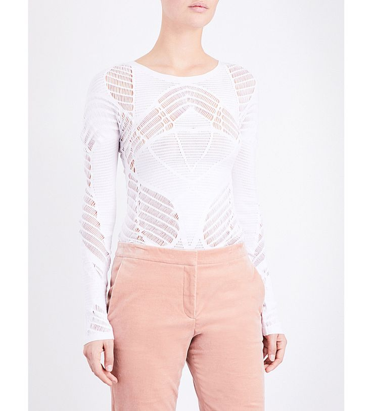 WOLFORD Net stretch-lace top