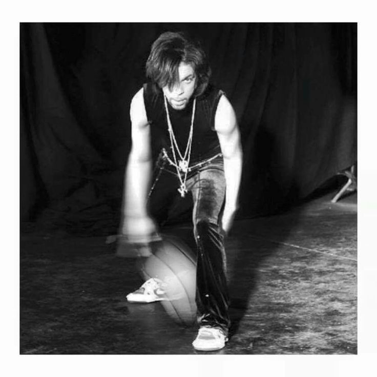 Prince dribbling a basketball