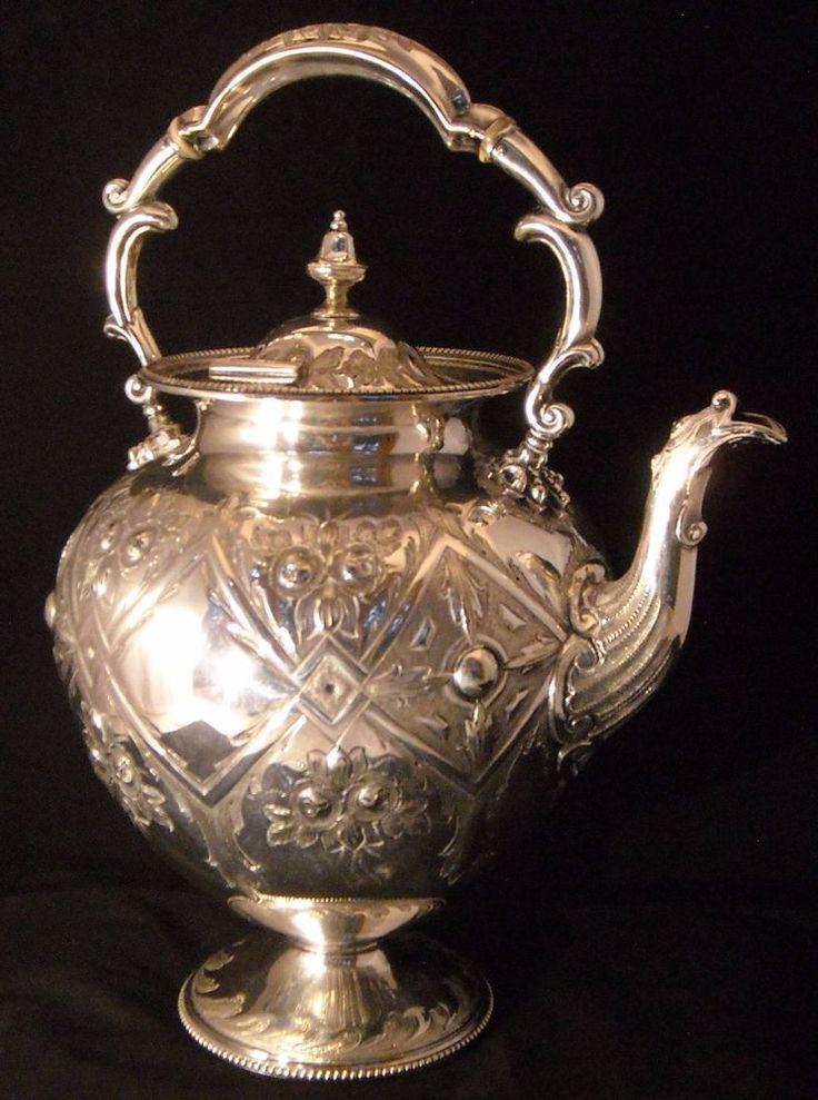 Ornate Martin & Hall Co Ltd. Silver Plate Teapot #MARTINHALLCOMPANY
