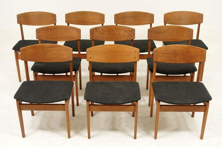 10 Borge Mogensen Oak Chairs