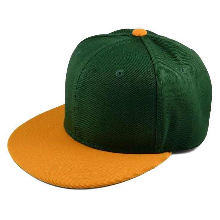 Grøn/Orange Snapback Cap - 199,00kr