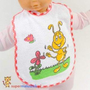 Śliniak z obrazkiem duży A0156 z mrówką #dziecko #fartuszek #sliniak #karmienie #baby #feeding #food #eating #bib #ant