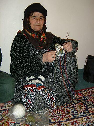 Kurdish village woman knitting socks | Flickr - Photo Sharing!