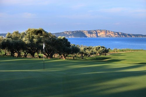 The Bay Course hole 14 Great golf resort Costa Navarino Greece