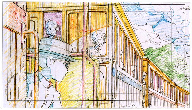 Original animation layouts from the Hayao Miyazaki film The Wind Rises (風立ちぬ).
