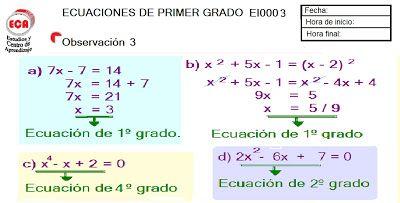 ecuaciones e inecuaciones - Buscar con Google