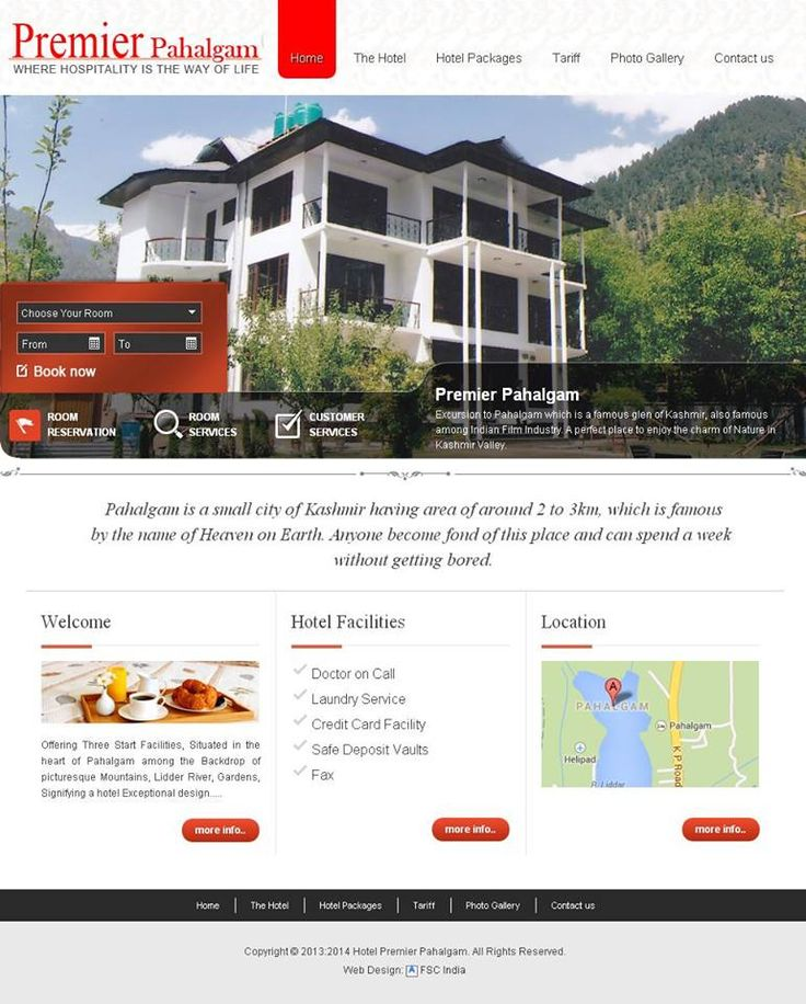 #Pahalgam #Hotels designed New Website by FSC www.premierpahalgam.com/