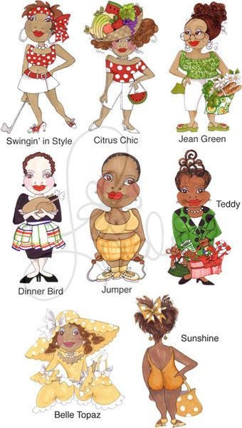 Colorful Ladies I Embroidery Design Collection by loraliedesigns, $59.00