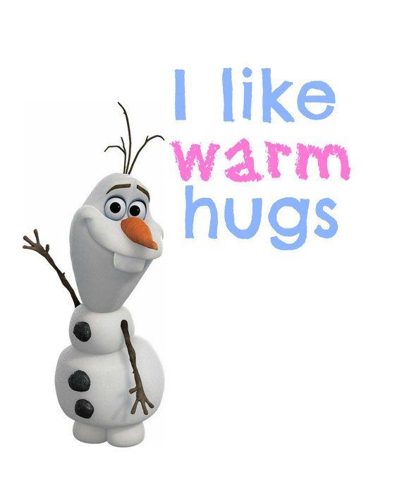 Frozen Olaf I Like Warm Hugs Printable  by RachelsMagicalPrints, £3.00