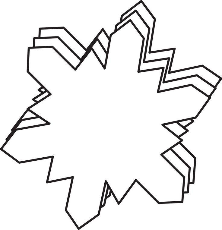 Large Single Color Creative Foam Cut-Outs - Snowflake (SE-7408)