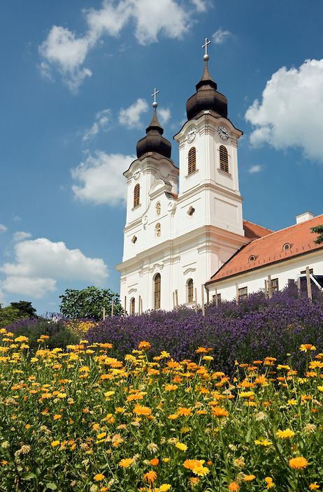 Baroque Church and Convent of Benedictine Abbey in Tihany, Lake Balaton Area, Hungary | Petr Svarc Images