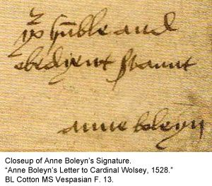 Anne boleyn signature tudor pinterest for Tudor signatures
