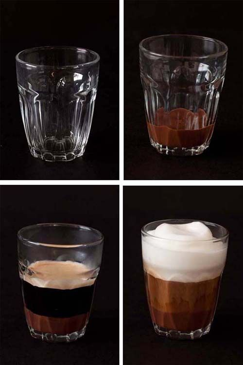 """Il Bicerin  Bicerin (Italy). 'Bicerin is a traditional hot drink native to Turin, Italy, made of espresso, drinking chocolate and whole milk served layered in a small rounded glass. The word bicerin is Piedmontese for """"small glass"""".'"""