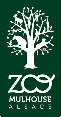 Logo Zoo of Mulhouse — France  visited in the 70s with baby in pushchair, looking at a beautiful garden and suddenly an Emu popped up in the shrubbery and looked at me - got such a fright, so unexpected!