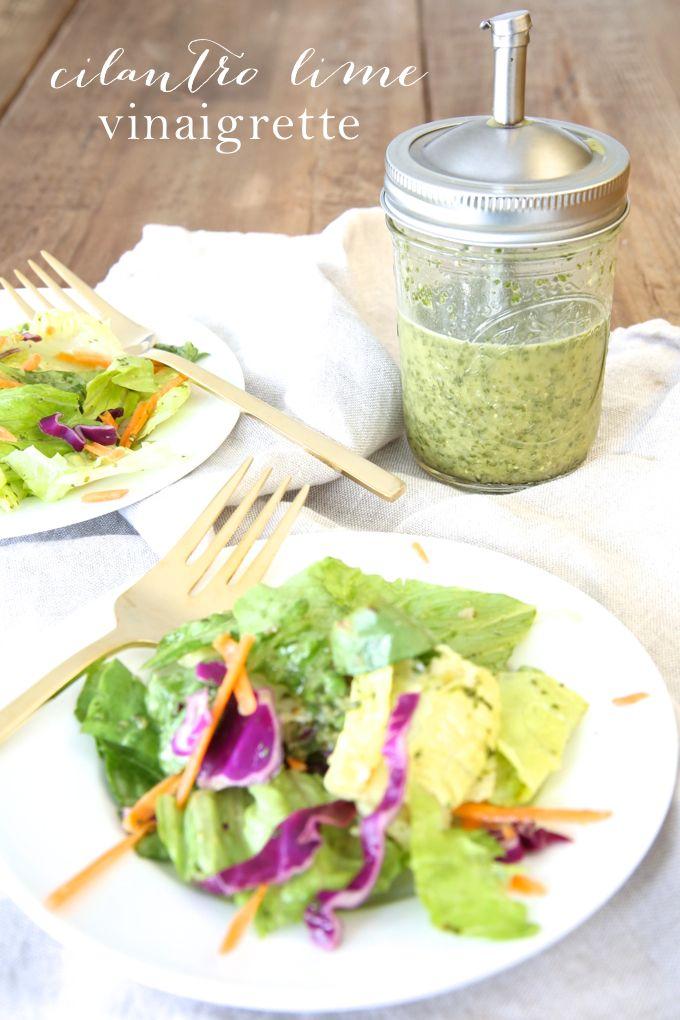5 minute cilantro lime vinaigrette recipe   Mexican Salad Dressing. awesome summer salad recipe.