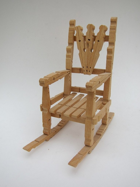 Clothespin Chair  clothespins  Rocking Chair Deck