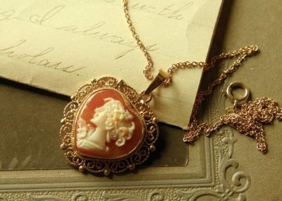 What a gorgeous cameo pendant!  Love it!