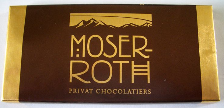 Moser Roth chocolate logo in art deco style