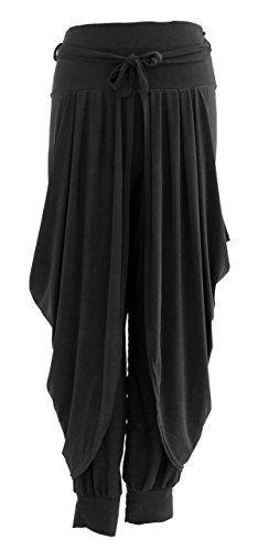 Ladies Womens Italian Lagenlook Layering Dhoti Tie Drape Pleated Loose Baggy Boho Harem Ali Baba Trouser Pants Leggings Joggers (One Size, Black) Generic http://www.amazon.co.uk/dp/B00L8C5888/ref=cm_sw_r_pi_dp_qWw4wb05BP7TM
