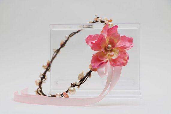 Seashell Flower Crown  Seashells and pearls  by AliceThorWeddings