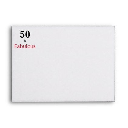 50 & Fabulous 50th Birthday Return Address Printed Envelope - modern gifts cyo gift ideas personalize