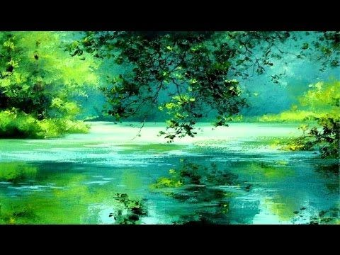 Quot River In The Forest Quot Easy Landscape Painting Tutorial