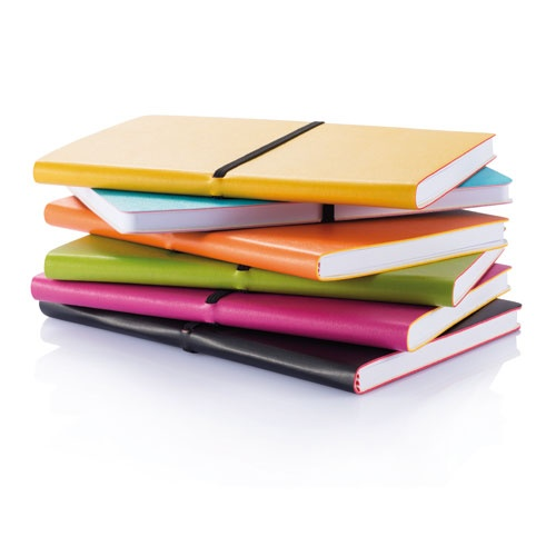 A5 notebook. Soft PU notebook with 96 lined pages inside of 80g/m2.