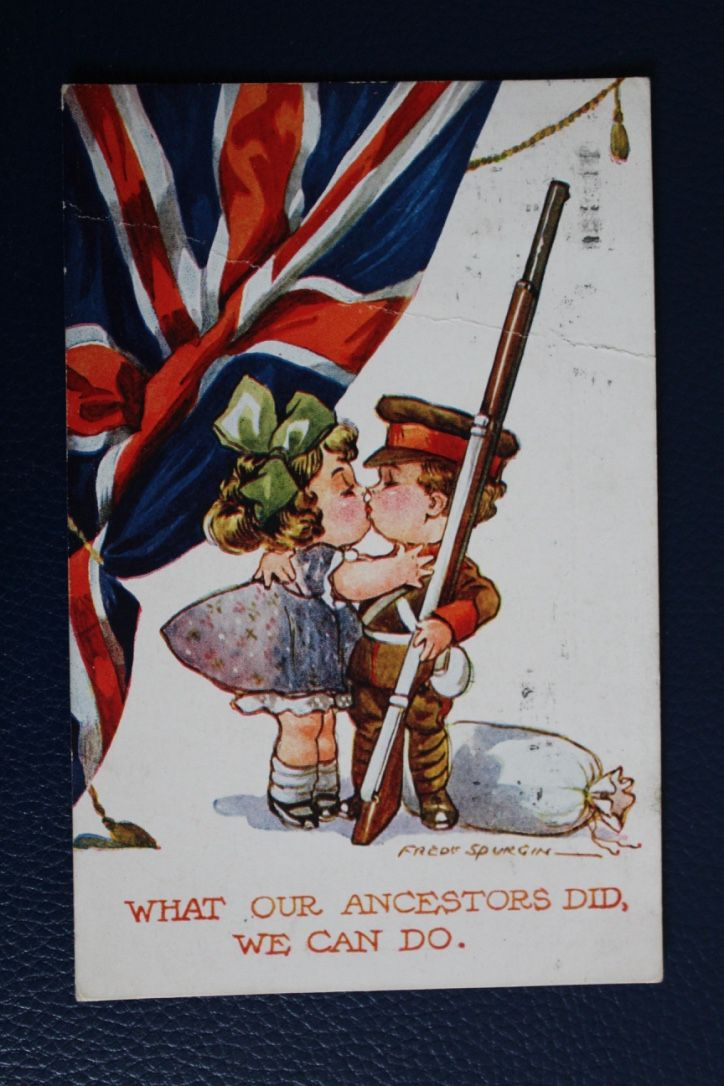 WW1 Inter-Art Patriotic Series Postcard - What Our Ancestors Did, We Can Do, £5.00