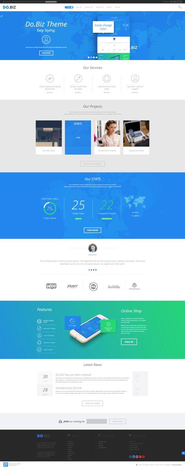 DO.BIZ - Business and Portfolio Theme by WordPress Design Awards http://themeforest.net/item/dobiz-business-and-portfolio-theme/6378344?ref=wpaw #web #design #wp
