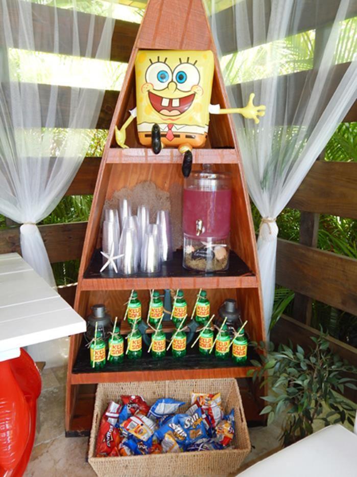 Spongebob Birthday Party with Lots of Really Fun Ideas via Kara's Party Ideas Shop | Kara'sPartyIdeas.com #SpongebobSquarePants #GenderNeutral #Party #Ideas #Supplies (10)