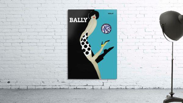 Vintage Bally Poster Giclee Print Aqua Blue Print
