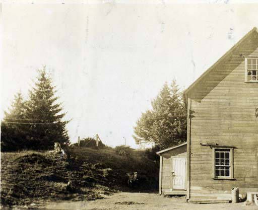 Longwood Territorial School, Wood Island, Kodiak. Alaska, Muzzy's One Room School House on Woody  ca. 1938. :: Alaska State Library-Historical Collections