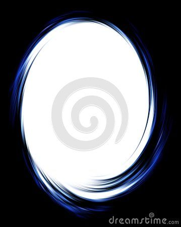 Abstract computer illustration of black and blue twirl