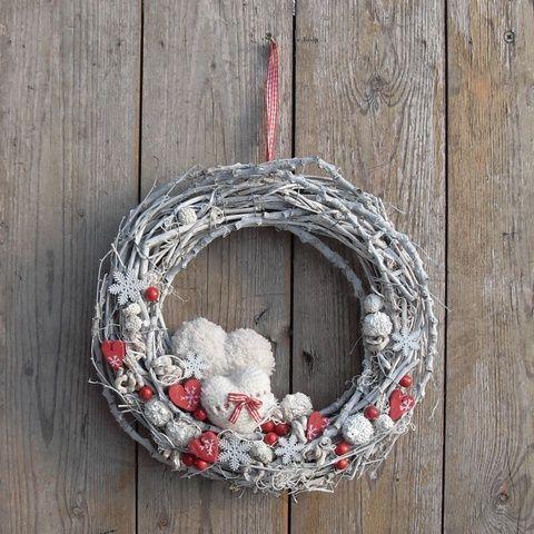 Angyalpír - téli ajtódísz , Otthon, lakberendezés, Dekoráció, Ünnepi dekoráció…