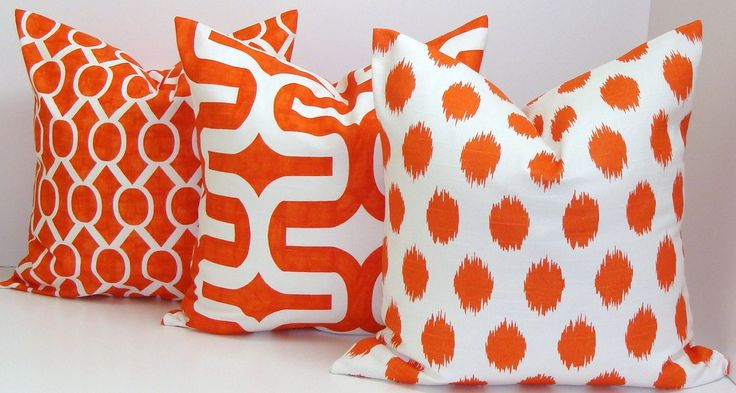 Orange pillow covers via Etsy.