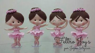 bailarina em feltro, ballet feltro, boneca bailarina, parte 1