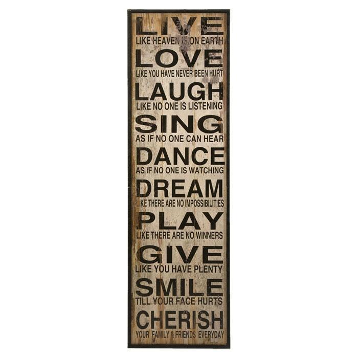 Live Love Laugh Wall Décor Part 95